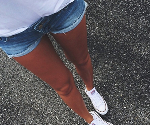 converse, summer, and legs image
