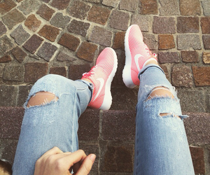 fashion, jeans, and roshe image
