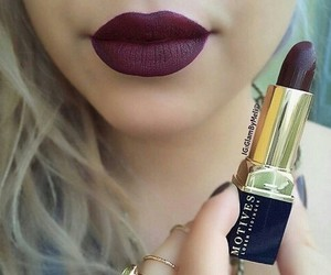 beauty, indie, and lipstick image