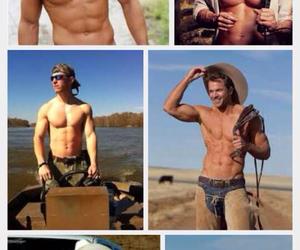 abs, cowboy, and Hot image