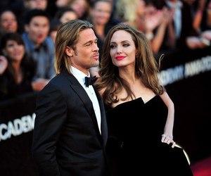Angelina Jolie, brad pitt, and beautiful image