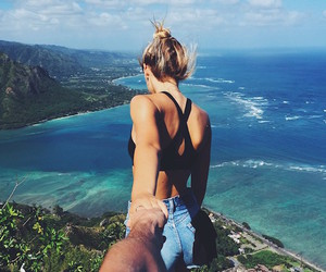 beach, travel, and blonde image
