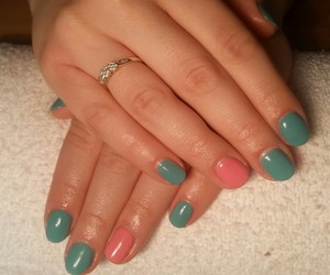 gel, pink, and nails art image