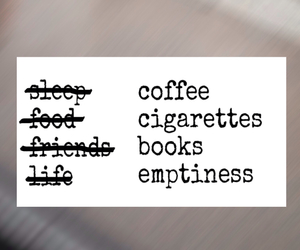 book, cigarettes, and coffee image