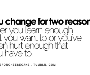 change, hurt, and quote image
