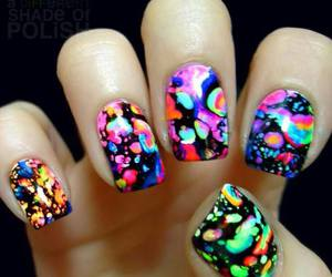 nails, art, and colorful image