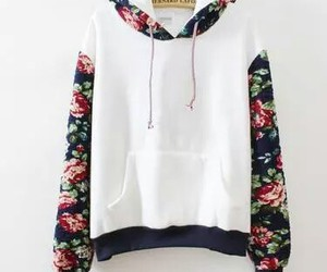 flowers, sweater, and white image