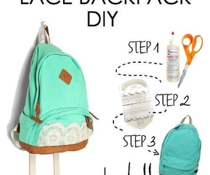 diy, bag, and backpack image