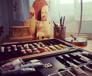 art, painting, and pretty image