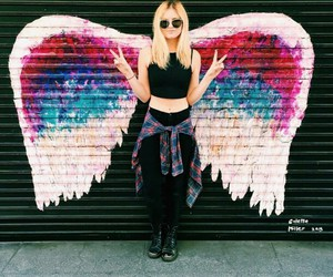 angel, wings, and hipster image