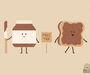 bread, cute, and nutella image