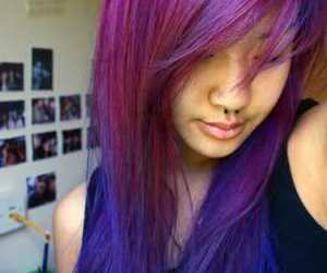 hair, purple, and awesome image