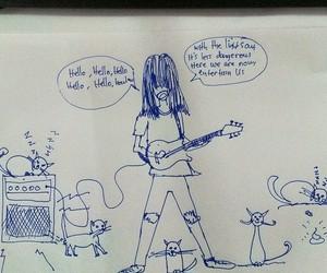 cats, drawing, and graffiti image