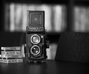 black and white, old, and camera image