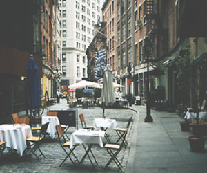 city, street, and vintage image
