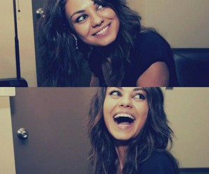 Mila Kunis, smile, and laugh image