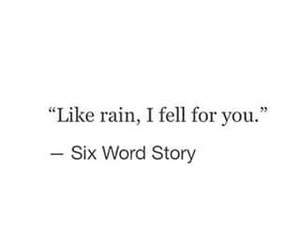 quotes, rain, and fell image