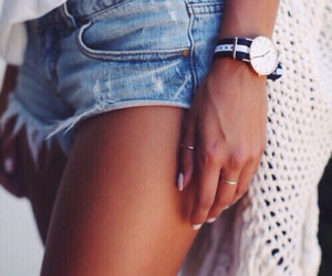 beach, denim, and style image