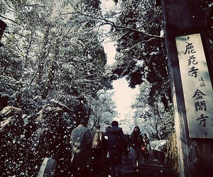 winter, japan, and snow image