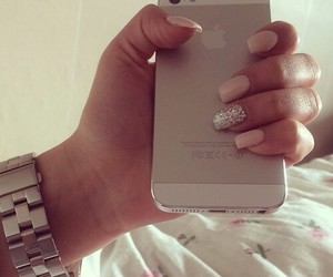 nails, iphone, and luxury image