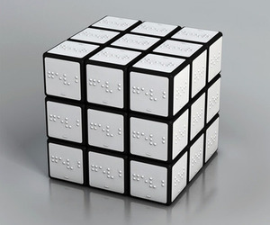 blind, braille, and rubik's cube image