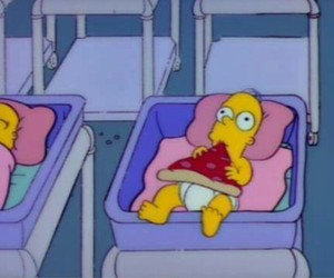 pizza, baby, and simpsons image