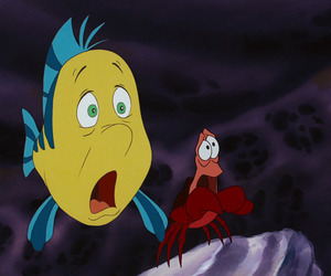 sebastian, the little mermaid, and flounder image