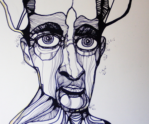 art, face, and illustration image