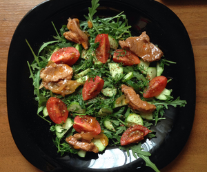 fitness, green, and salad image