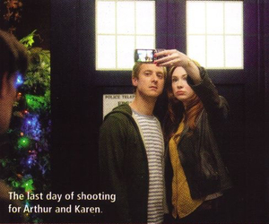 doctor who, karen gillan, and arthur darvill image