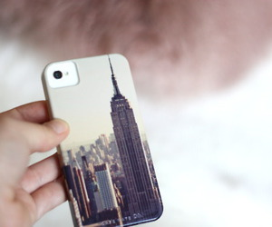 iphone, case, and new york image