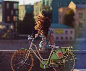 city, beautiful, and bicycle image