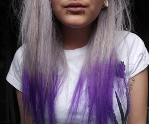 hair, girl, and piercing image