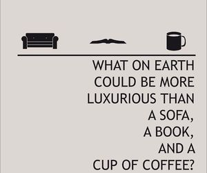 book, sofa, and coffee image