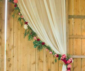 flowers and curtains image