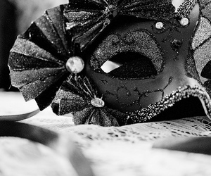 black, black and white, and mask image