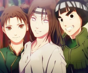 rock lee, naruto, and neji image