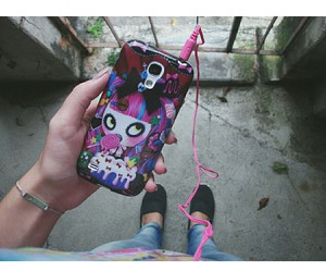 candy, cell phone, and girl image