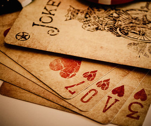 cards, joker, and playing cards image