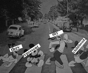 disney, mickey, and black and white image
