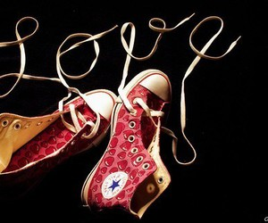love, converse, and shoes image
