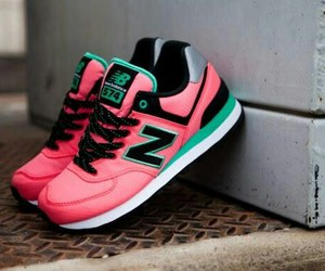 new balance, pink, and shoes image