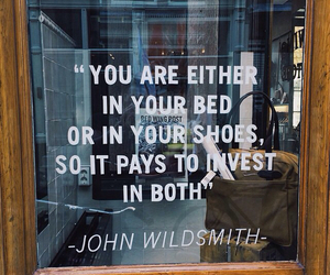 quotes, shoes, and bed image