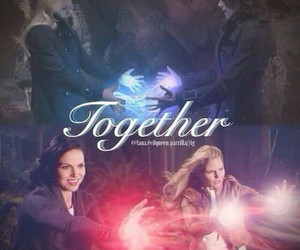 once upon a time, emma, and swanqueen image