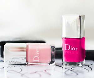 dior, pink, and nails image