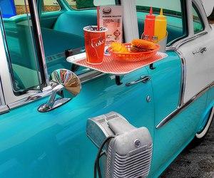 food, vintage, and car image