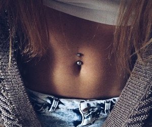 piercing, girl, and body image