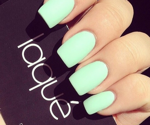 nails, green, and mint image