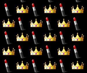 crown, lipstick, and wallpaper image
