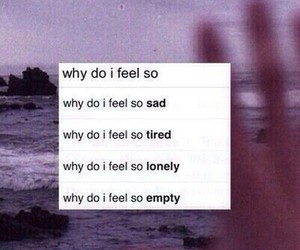 sad, lonely, and empty image
